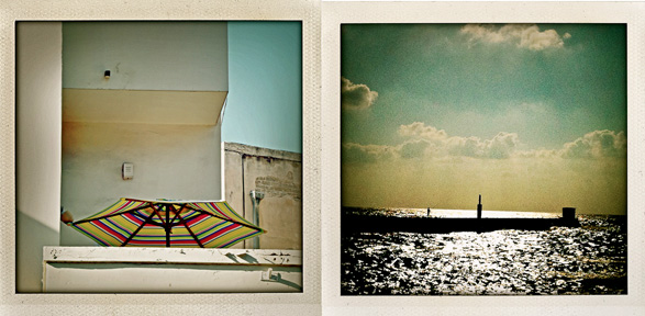 Tel Aviv, Israel, Summer, travel, polaroids