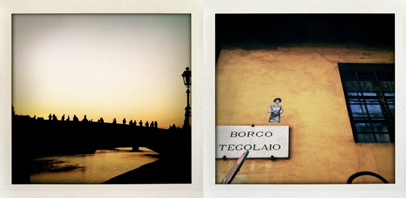 florence, italy, travel, polaroid, roof with a view
