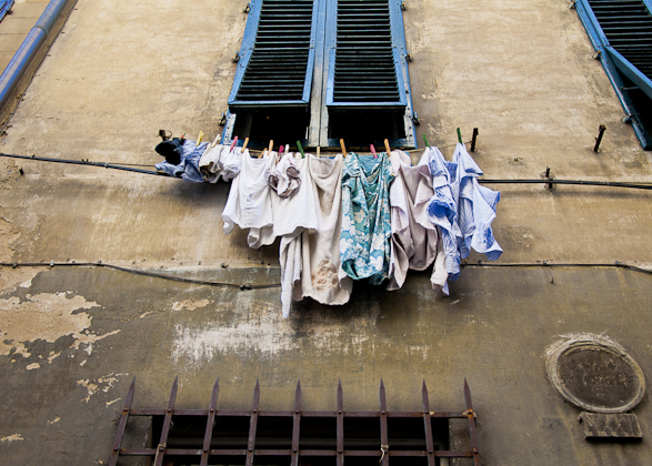 Florence, Italy, Laundry, Intimacy under the Wires, Travel