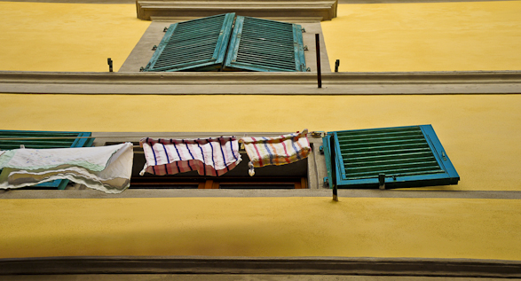 Laundry, Intimacy under the Wires, Florence, Italy, Travel