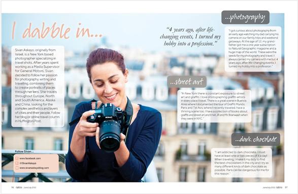 Travel, food, dabble magazine, design, lifestyle