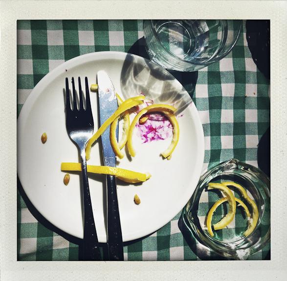 My life in Polaroids, On the table, Tel Aviv, Jaffa