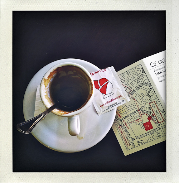 My life in Polaroids, Venice, Italy, Coffee, On the Table