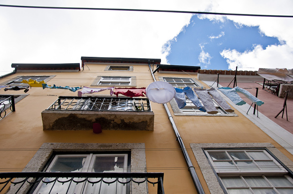 Lisbon, Portugal, Laundry, Intimacy under the Wires