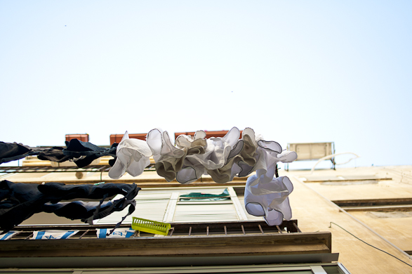 Intimacy under the Wires, Laundry, Tel Aviv, Israel