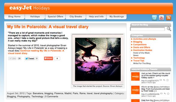 easy jet Holidays, My life in Polaroids, Travel