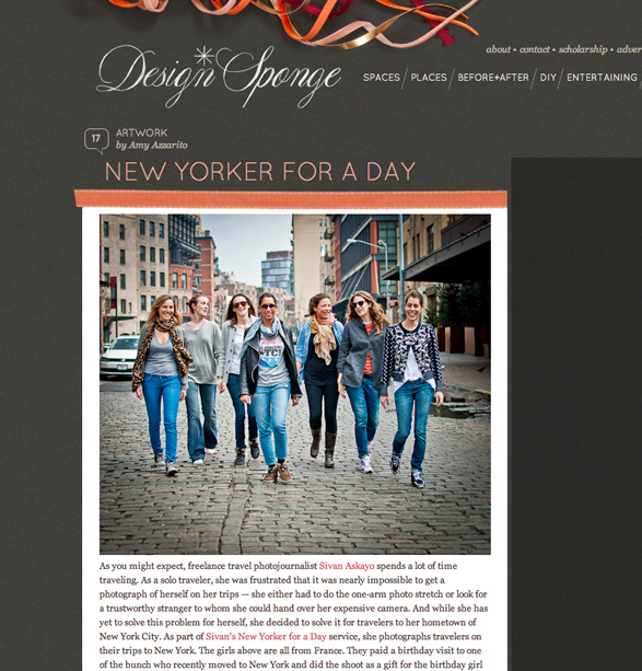 New Yorker for a Day, Photography