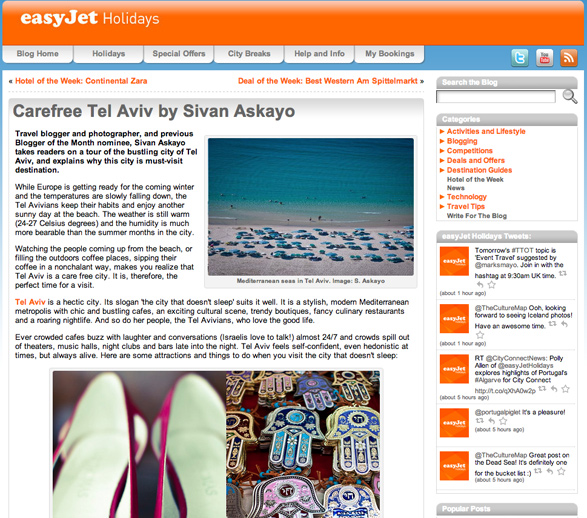 Easy Jet, Tel Aviv, Israel, Travel