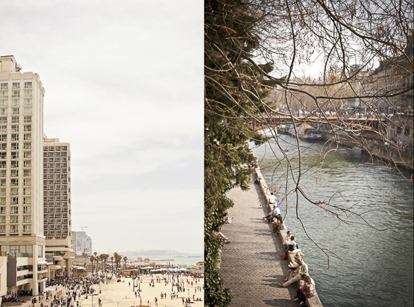 Water Fronts  Tel Aviv Hilton beach vs. La Seine