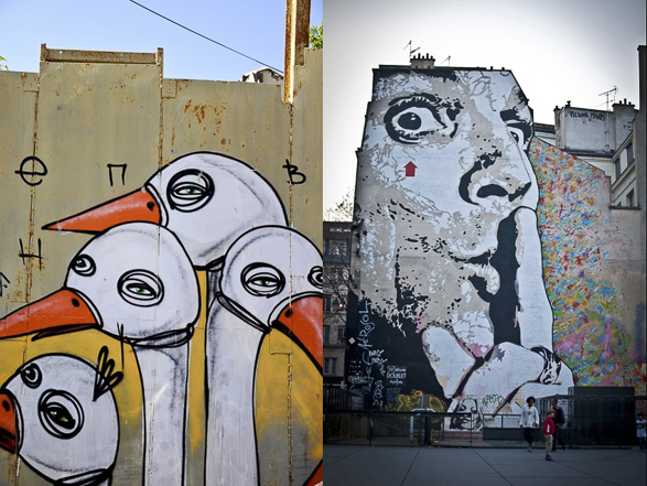 Tel Aviv vs Paris, Street Art, Know Hope, Jef Aerosol