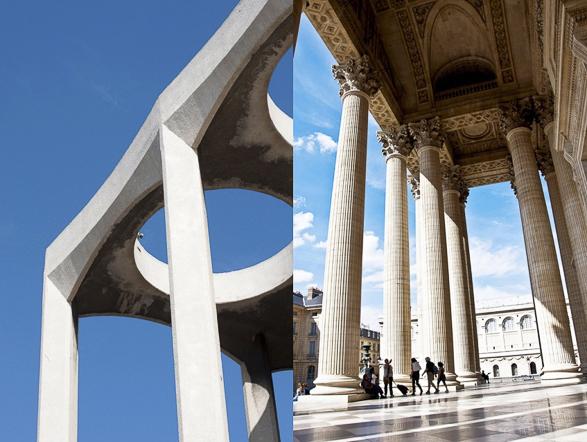 Tel Aviv vs Paris, Columns  The Big Synagogue in Alenbi st. vs. The Pantheon