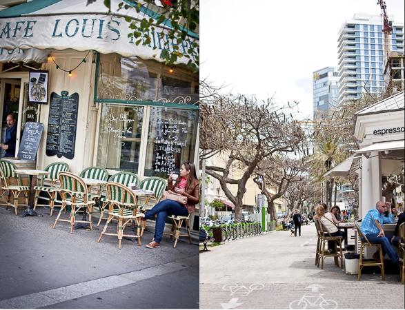 cafe, Tel Aviv vs Paris