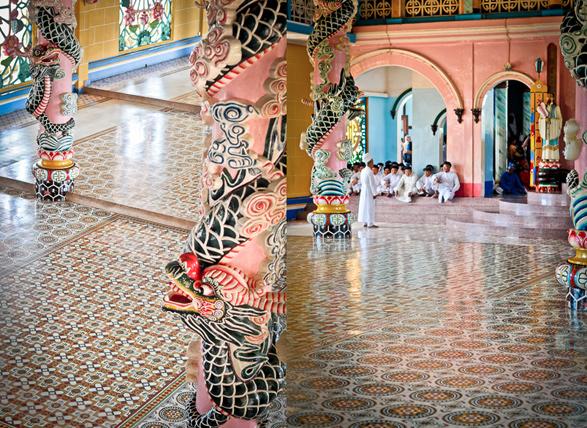 Cao Dai, Temple, Ho Chi Minh, Vietnam, Tay Ninh