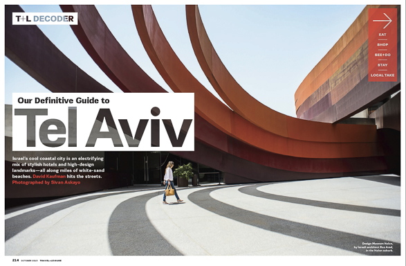 Travel + Leisure, Tel Aviv, Decoder, Israel
