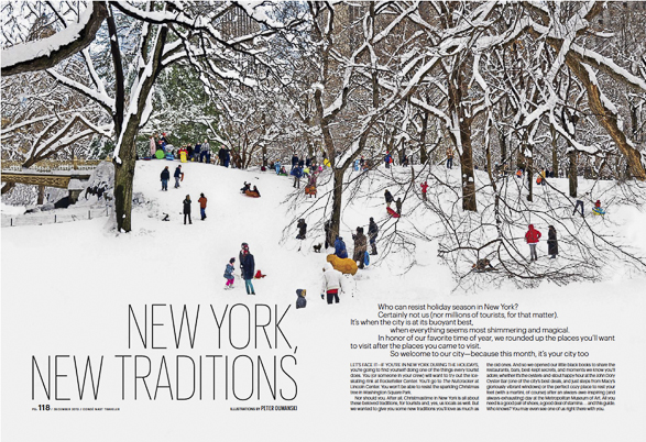 New York, Snow, December, Holiday Issue