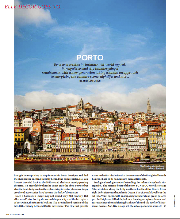 Elle Decor goes to Porto, May issue