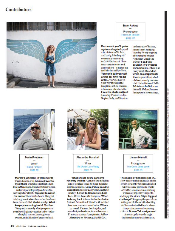 Featured in Travel + Leisure