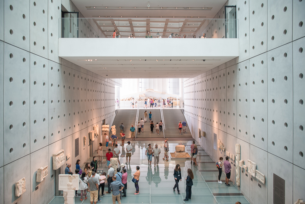 Acropolis Museum, gallery of the Slopes of the Acropolis, Plaka, Athens, Greece